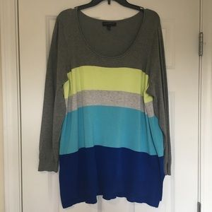Size 18/20 Lane Bryant Blue Grey Green Sweater